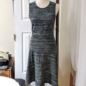 ANN TAYLOR LOFT | Green grey dress